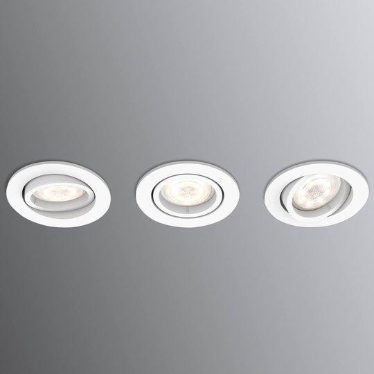 Kulmikas LED-uppospotti Shellbark WarmGlow 3 kpl