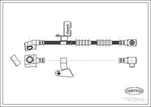 Bromsslang, framaxel vänster
