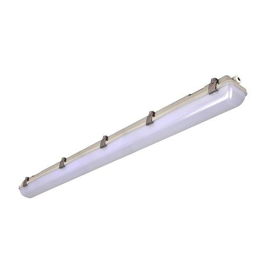 LED-våtromslampe 659, grå, 126 cm, 25 W