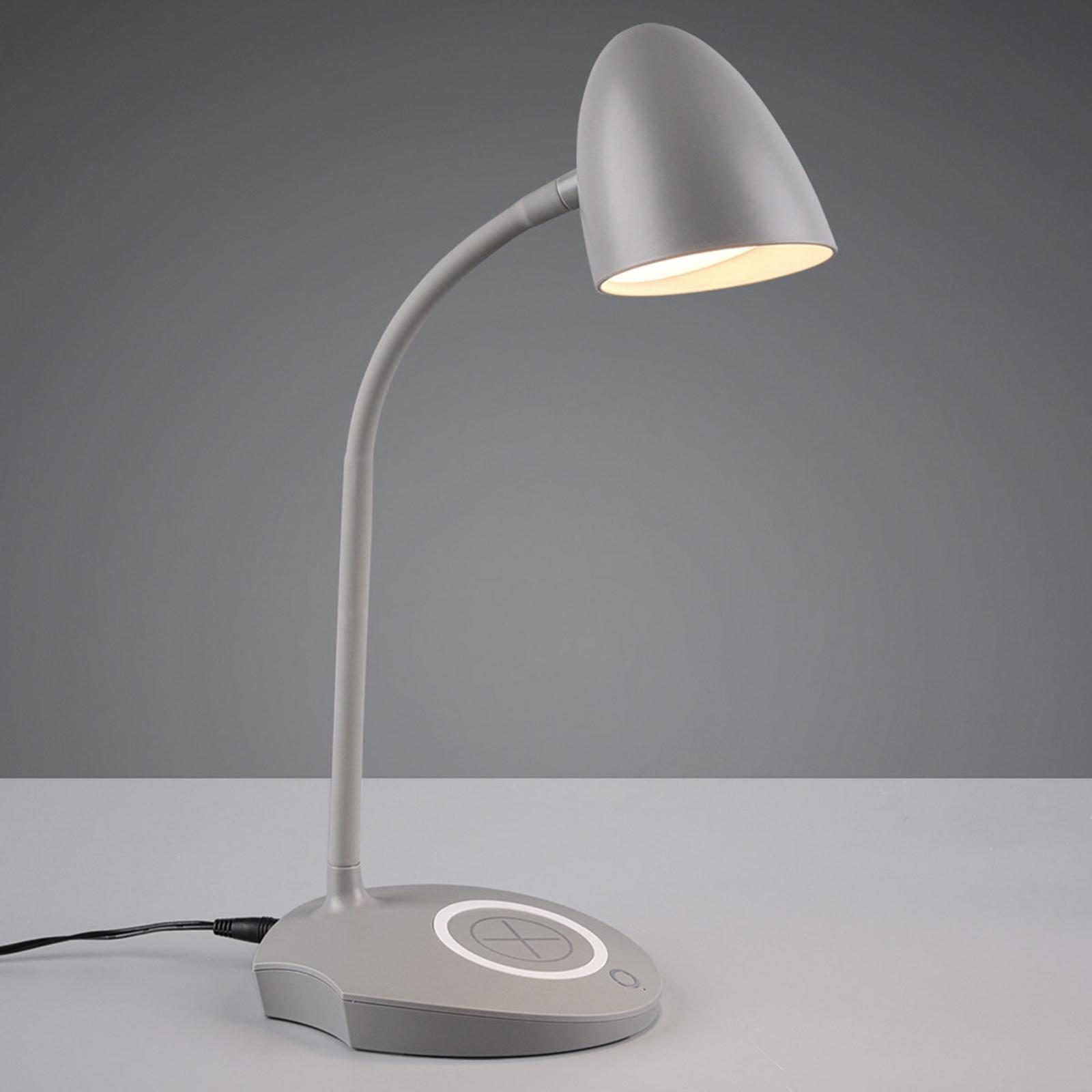 LED-pöytälamppu Load, latausasema, harmaa