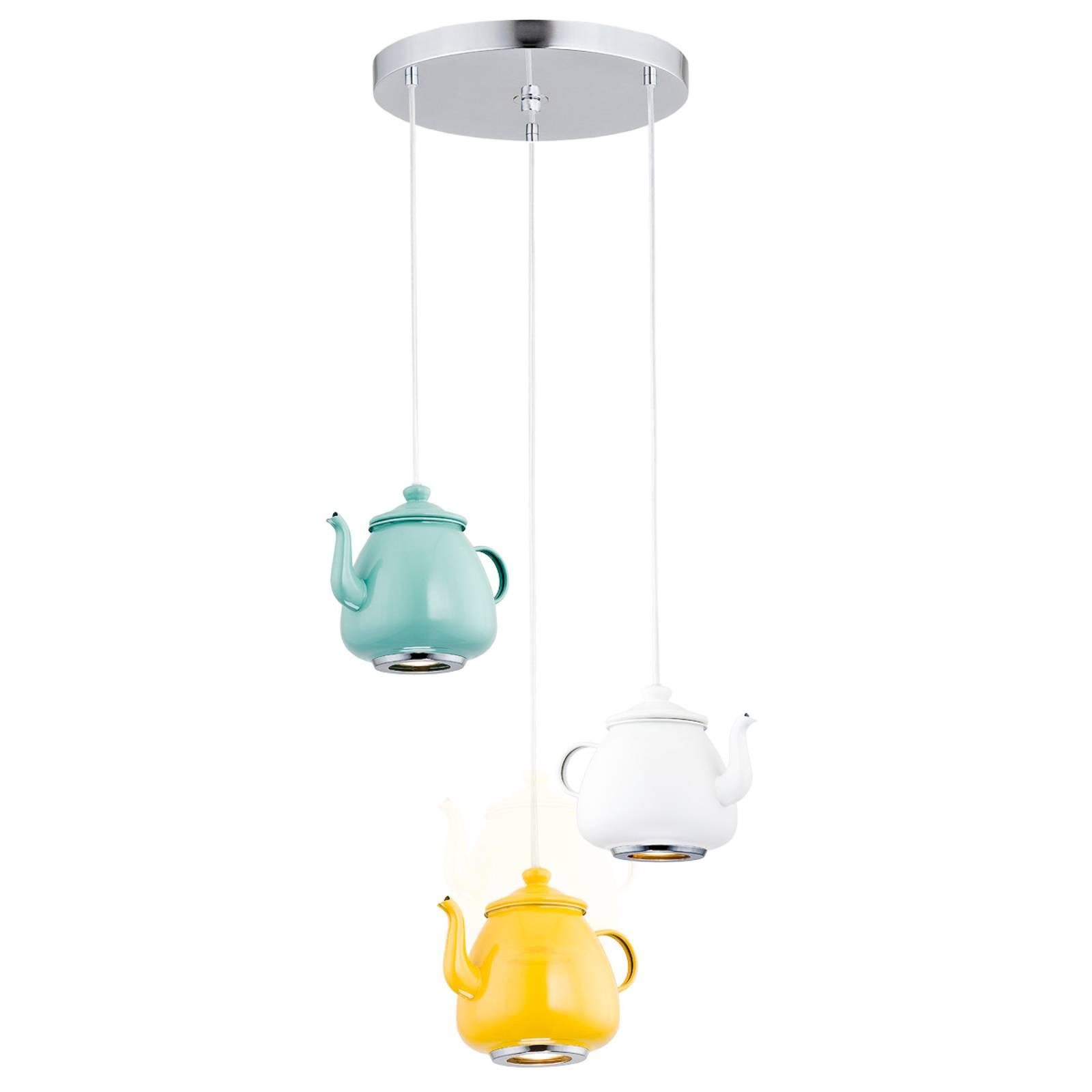 Riippuvalo Jasse, 3-lamppuinen, monivärinen
