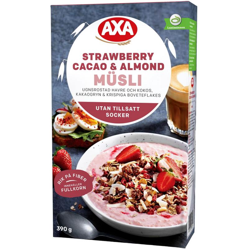 "Müsli ""Strawberry, Cacao, Almond"" 390g - 63% alennus"