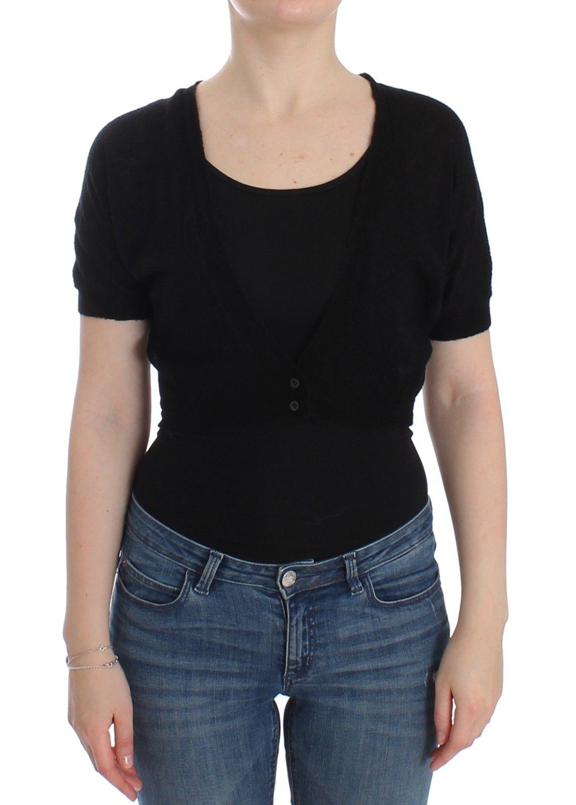 Ermanno Scervino Knit Sweater Black SIG12569 - IT44 | M