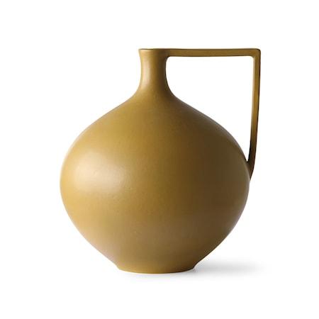 Ceramic jar L Mustard