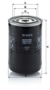 Öljynsuodatin MANN-FILTER W 940/3