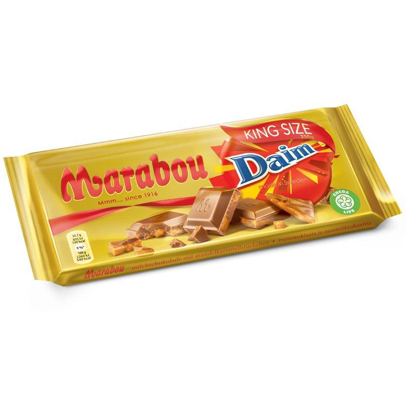 "Mjölkchoklad Daim ""King Size"" 250g - 32% rabatt"