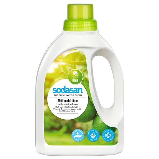 Sodasan Sköljmedel Lime, 750 ml