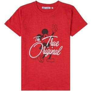 Fabric Flavours Mickey True Original T-shirt Röd 3-4 years