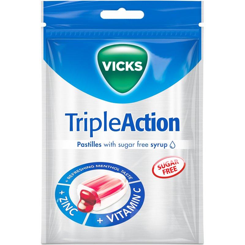 Kurkkupastillit Triple Action - 24% alennus