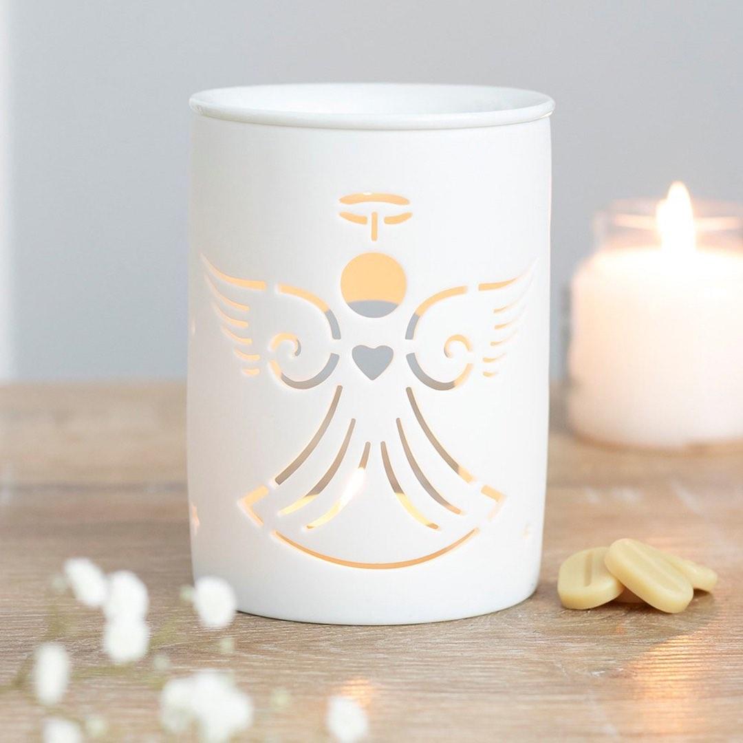 Aromalampa i keramik - Ängel