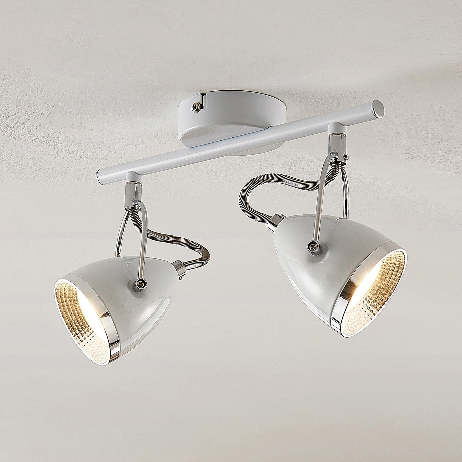 Lindby Jadon LED-takspot hvit 2 lyskilder