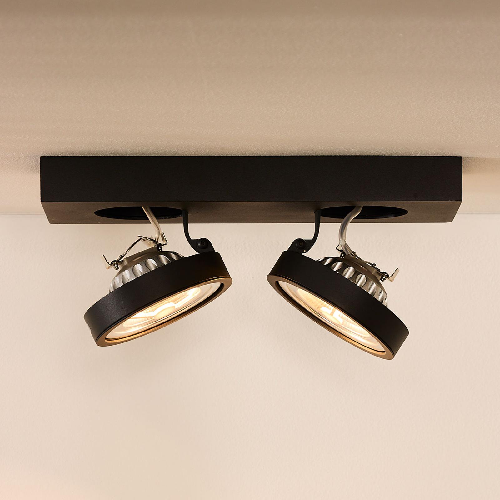 Kaksilamppuinen LED-kattokohdevalo Nenad, harmaa