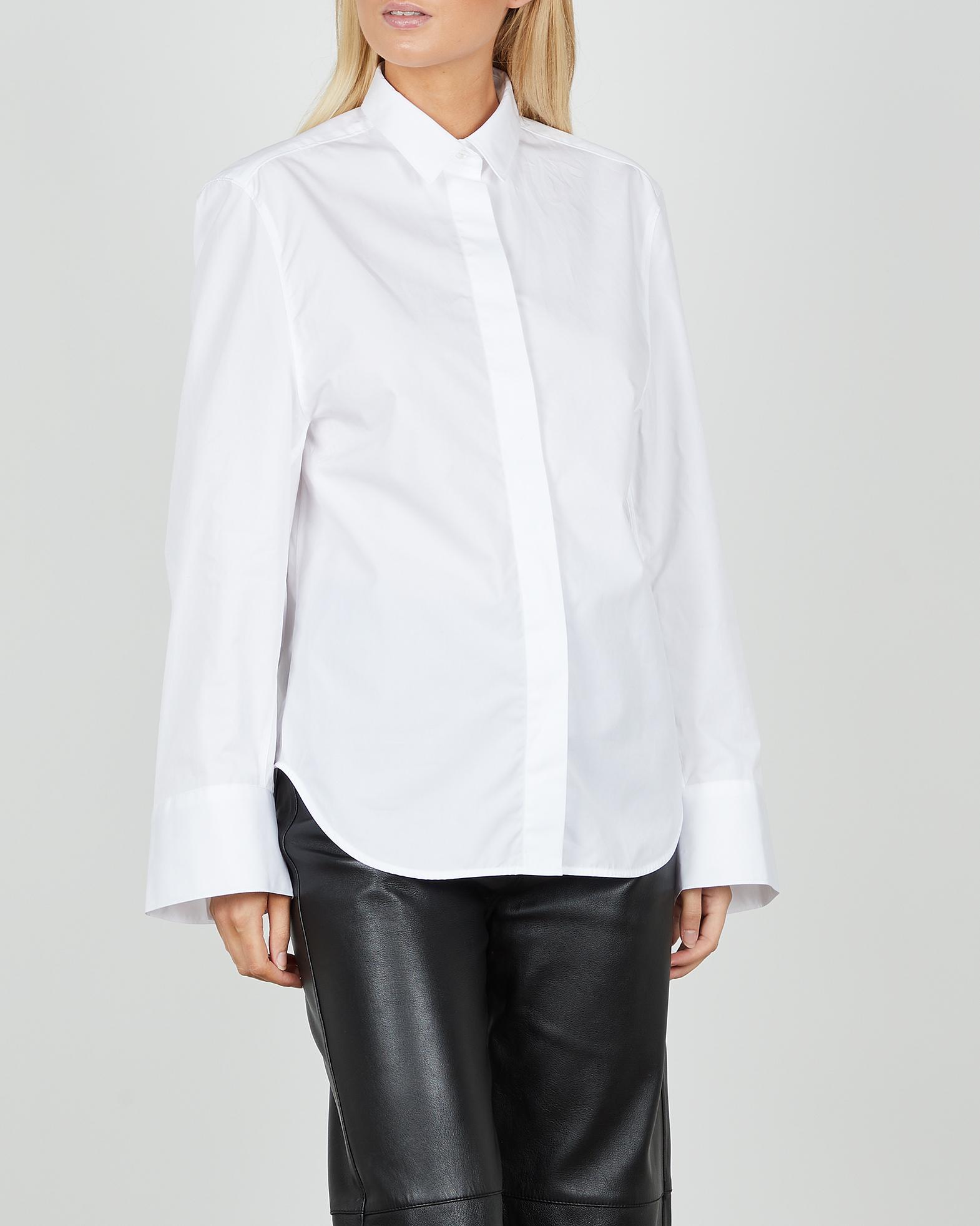 Totême Skjorta Wide Sleeve vit 32