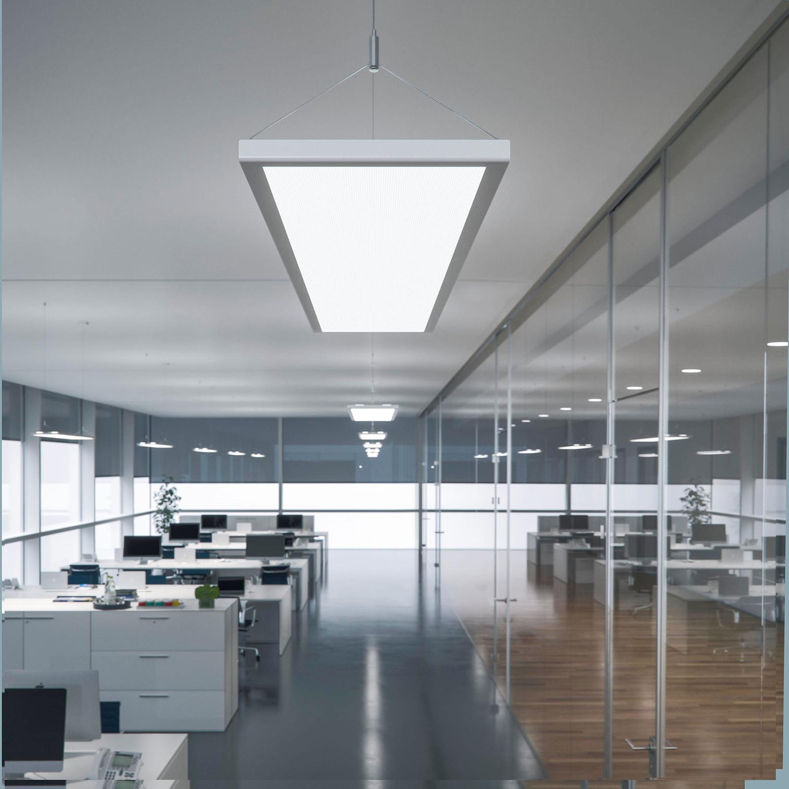 LED-riippuvalaisin IDOO VTL, DALI, 65W, CCT, hopea