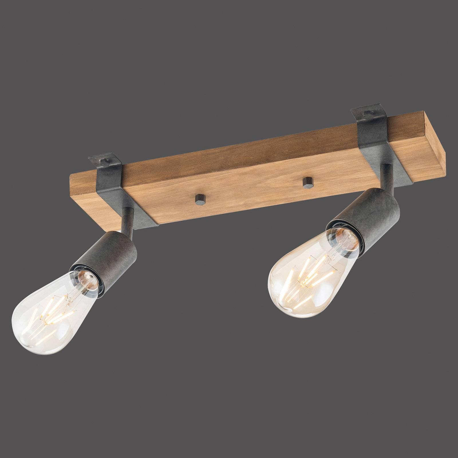 Slat taklampe, svingbar, 2 lyskilder