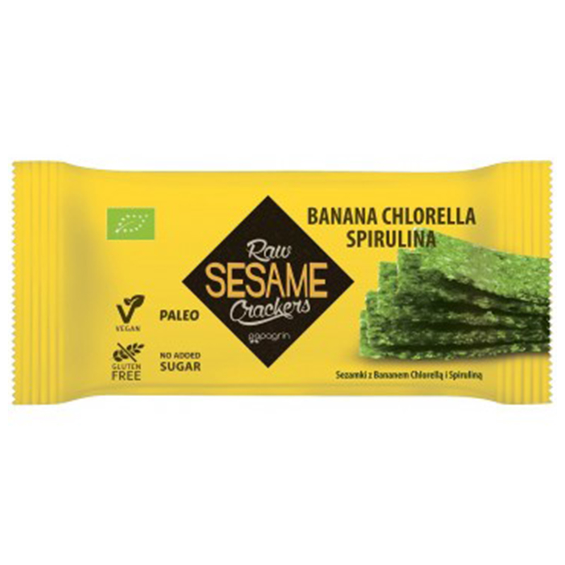 "Sesamkex ""Banan, Chlorella & Spirulina"" 20g - 29% rabatt"