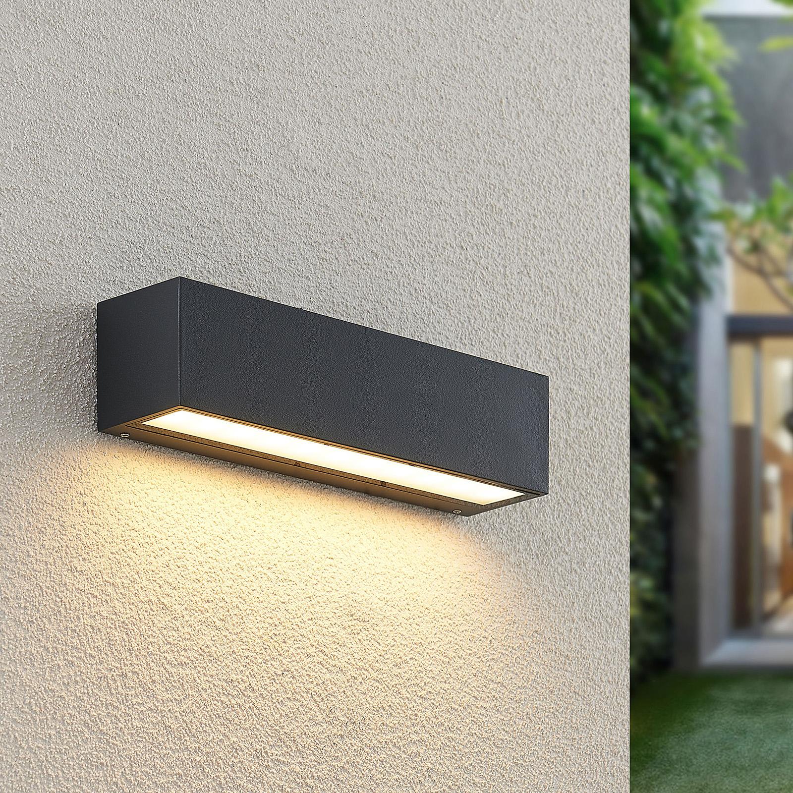 Lucande Lengo-LED-seinävalo 25cm grafiitti 1 lamp.