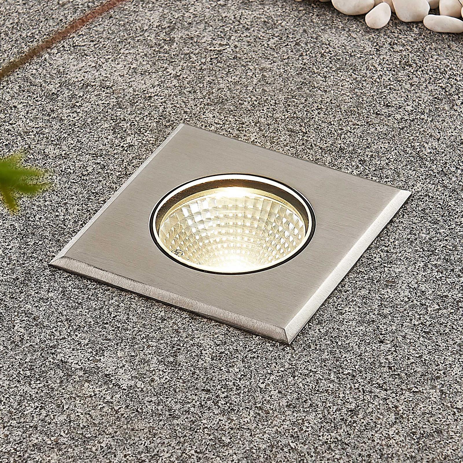 LED-lattiauppovalaisin Sulea, IP67, kulmikas