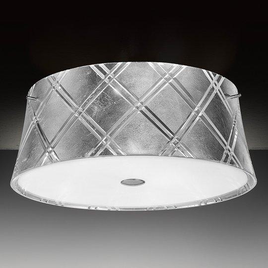 Hopeanvärinen kattovalaisin Corallo 40, 2 lamppua