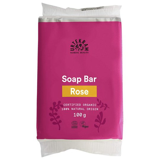 Urtekram Nordic Beauty Rose Soap Bar, 100 g