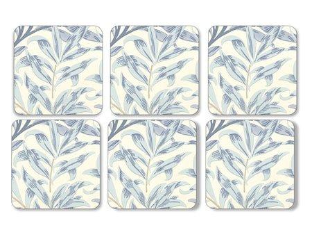 Morris Glassunderlag Willow Bough Blå 6-pakning