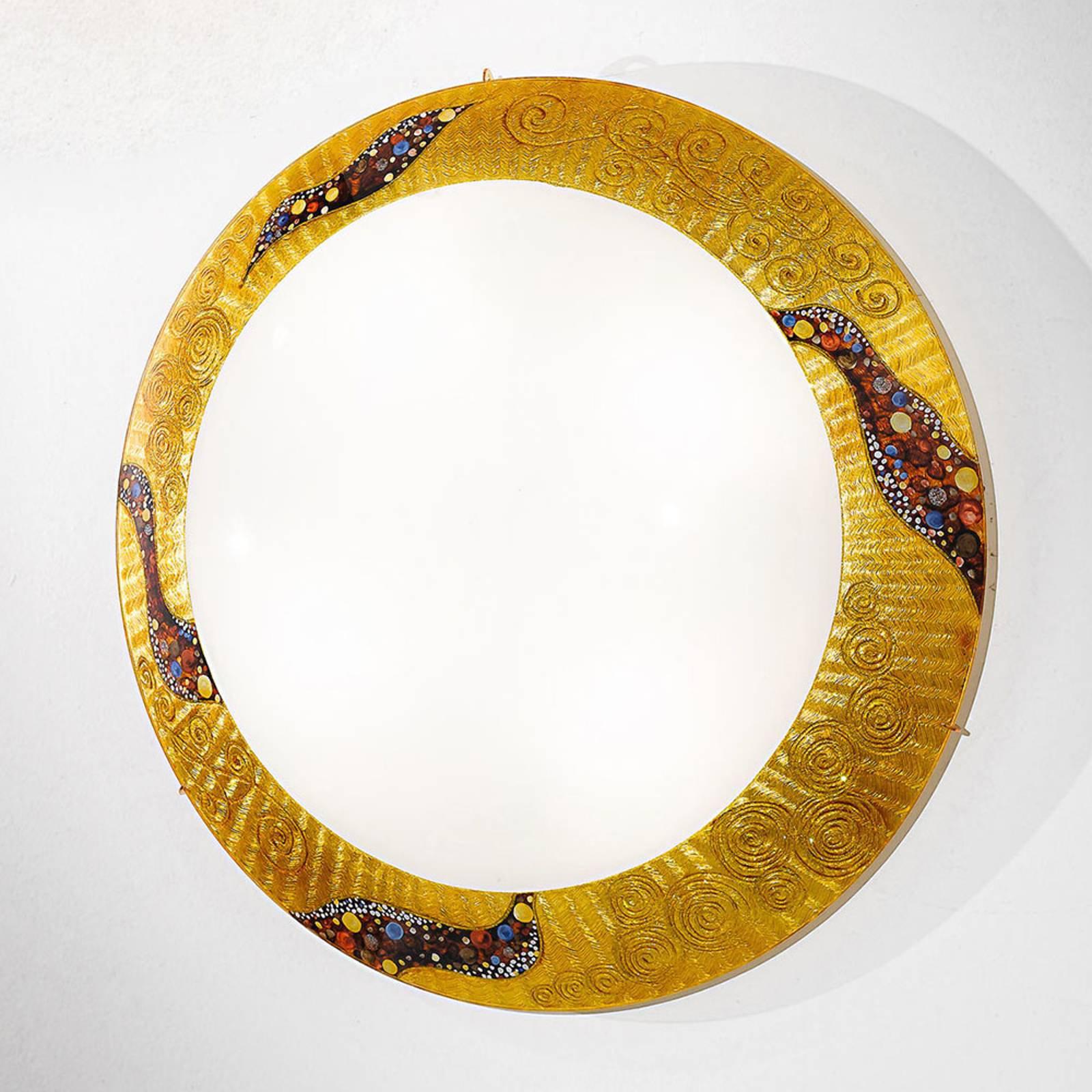 KOLARZ Serena Kiss Gold vegglampe 24 karat Ø 50 cm