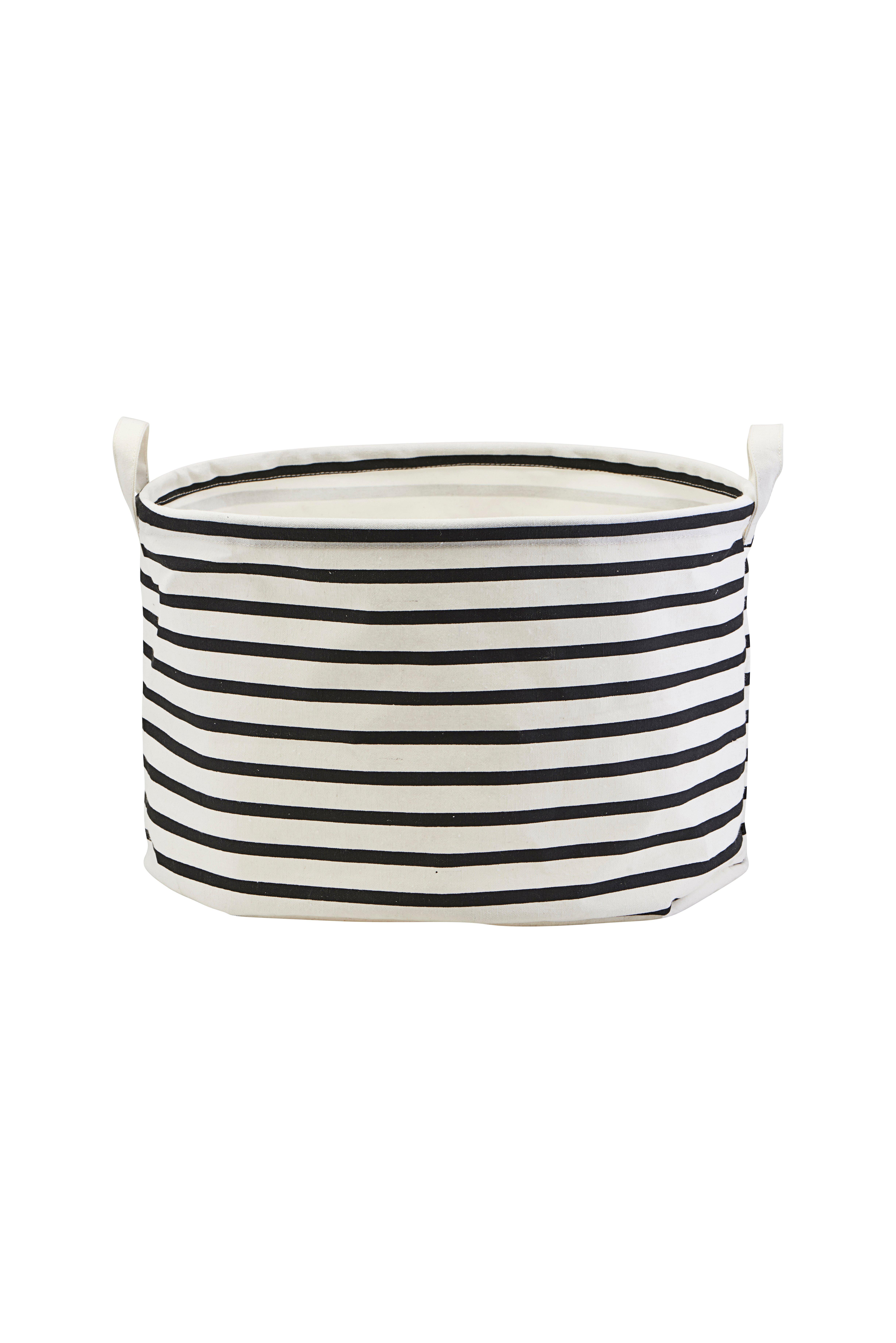 House Doctor - Storage Bag Stripes Small - Black/White (LS0441)