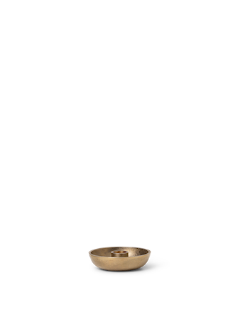 Bowl Ljusstake Single Mässing