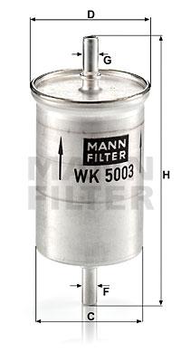 Polttoainesuodatin MANN-FILTER WK 5003