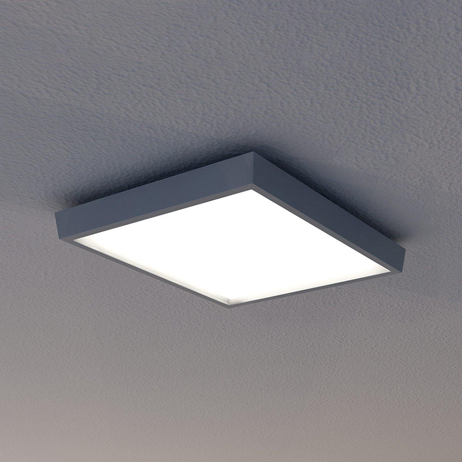 LED utendørs taklampe IP54, antrasitt, 27 x 27 cm
