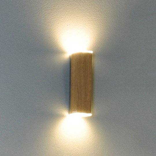 HerzBlut Leonora LED-vegglampe up&down eik oljet