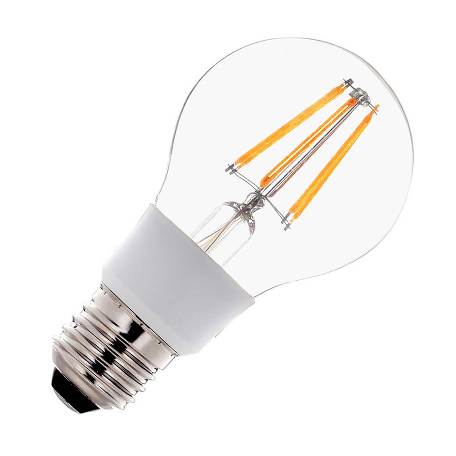 SLV-LED-lamppu E27 A60 filament 7W himmennettävä