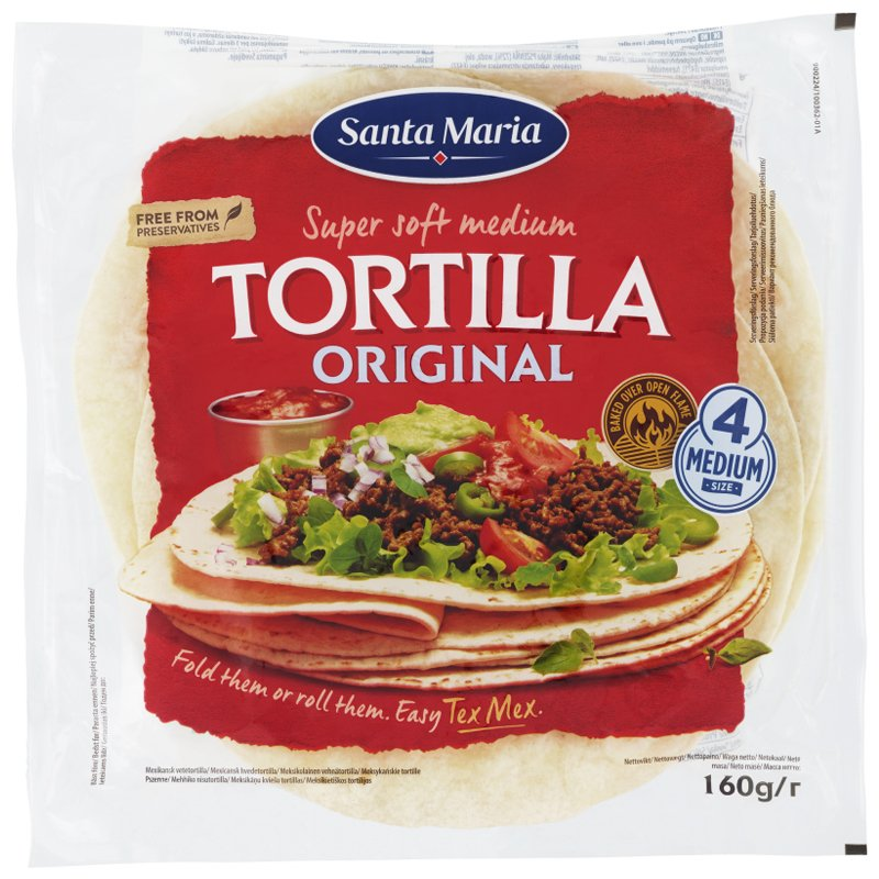 """Tortillaleivät """"Medium"""" 160g - 21% alennus"""