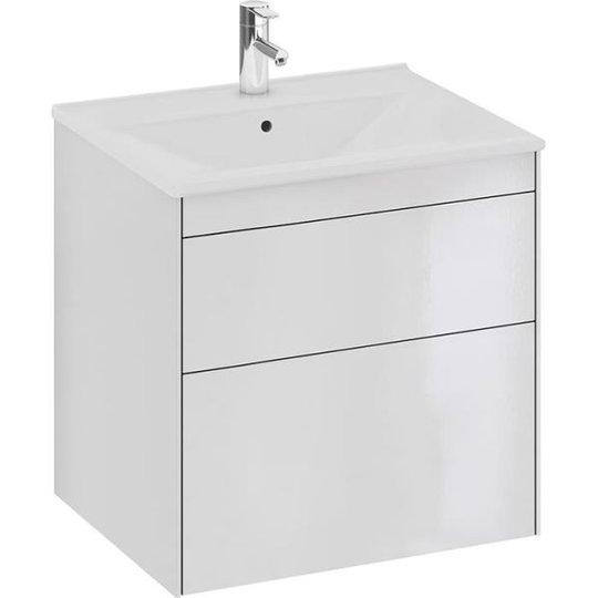 Ifö Sense SU Allaskaappi 60 cm, 2 laatikkoa, korkeakiiltoinen valkoinen