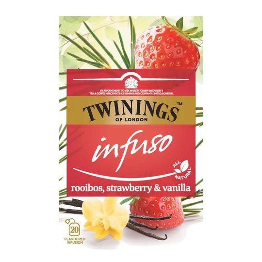 """Te """"Strawberry & Vanilla"""" 20 x 2g - 33% rabatt"""