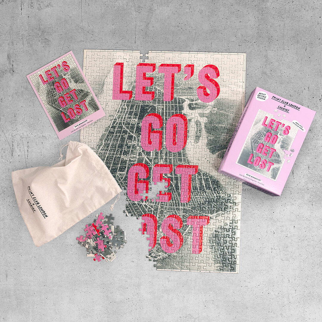 Print Club London x Luckies – Let's Go Get Lost Together – NY - 500 Pieces Puzzle