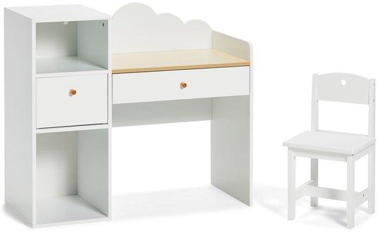 Alice & Fox Skrivebord Med Stol, Hvit