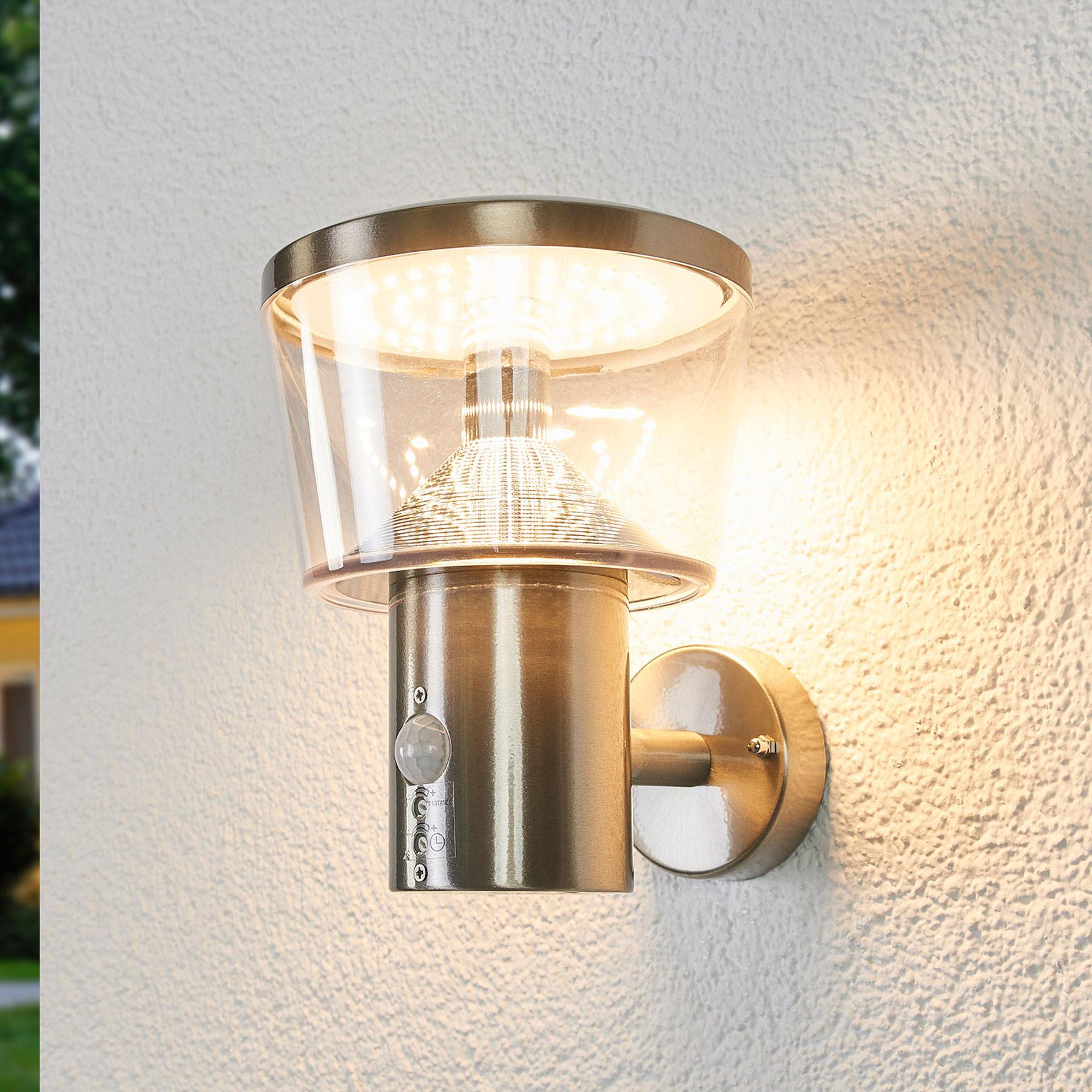 Antje-LED-ulkoseinävalaisin tunnistimella