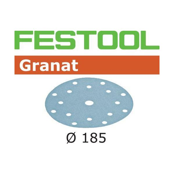 Festool STF GR Hiomapaperi 185mm, 16-reikäinen, 50 kpl P60