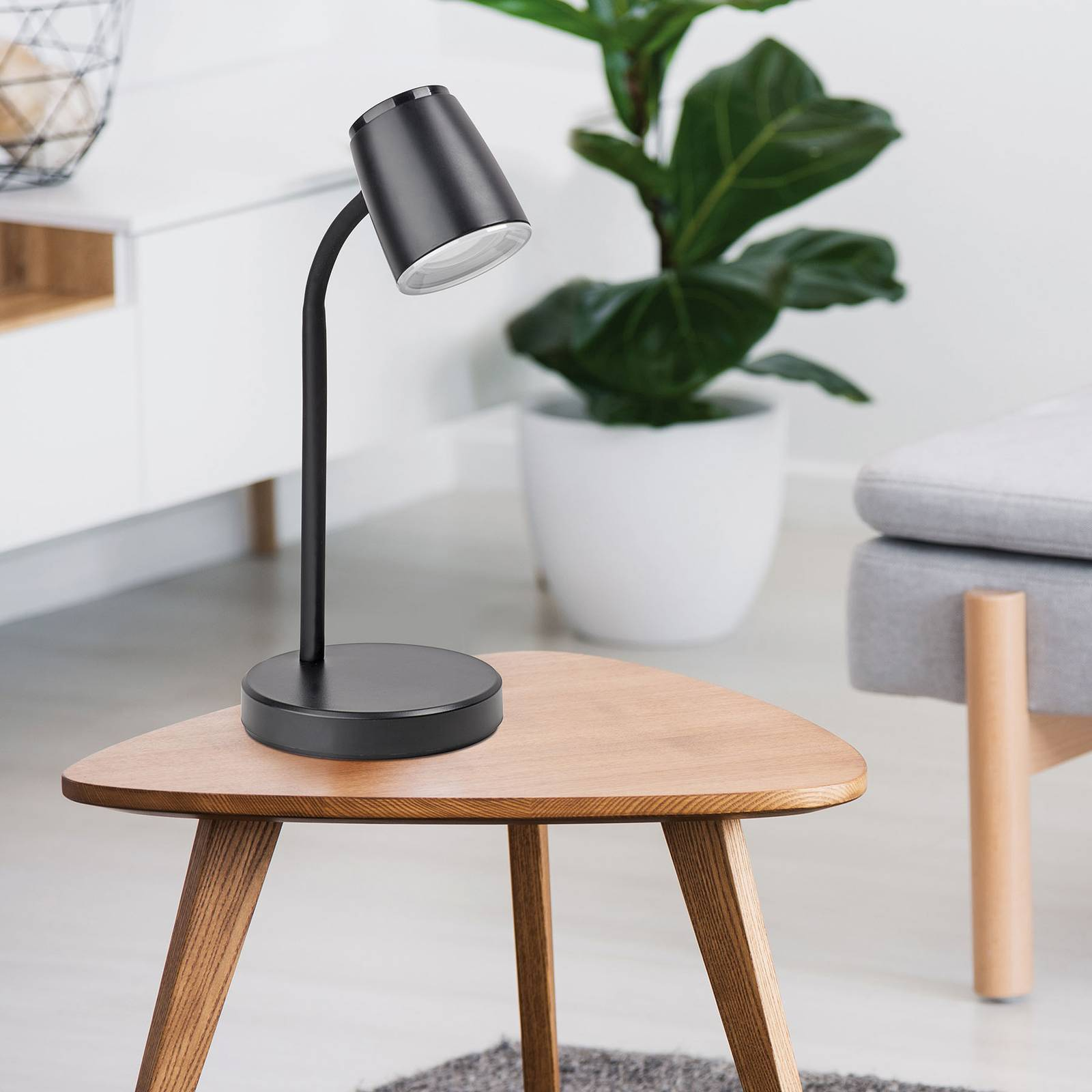 LED-työpöytälamppu MAULabby, musta
