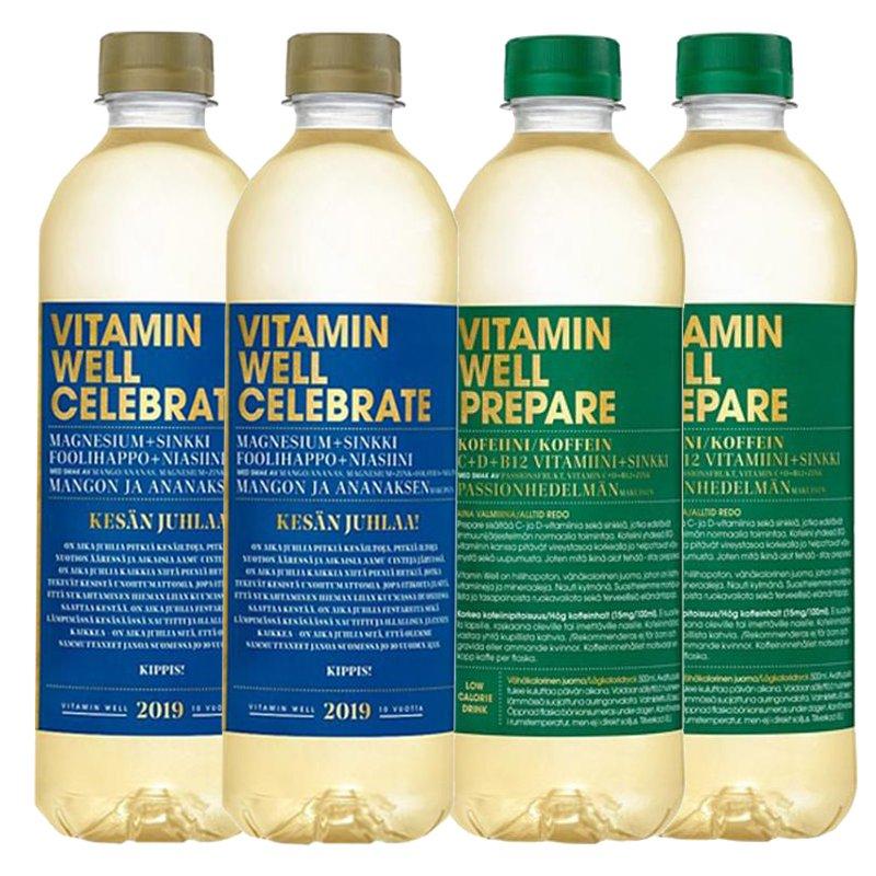 Vitamiinijuomat 4kpl - 79% alennus