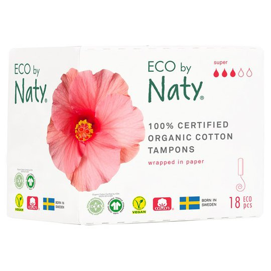 Naty Ekologiska Tamponger super, 18 st