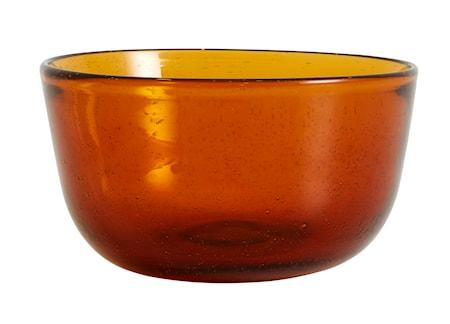 Airy Skål Glas Amber