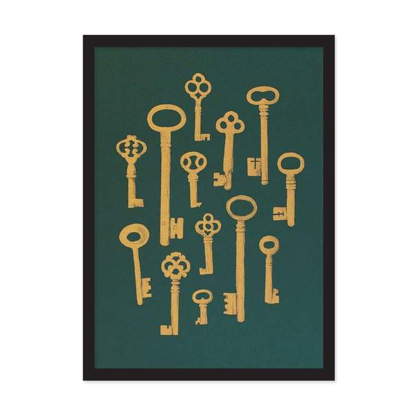 A4 Collection Of Keys Riso Print