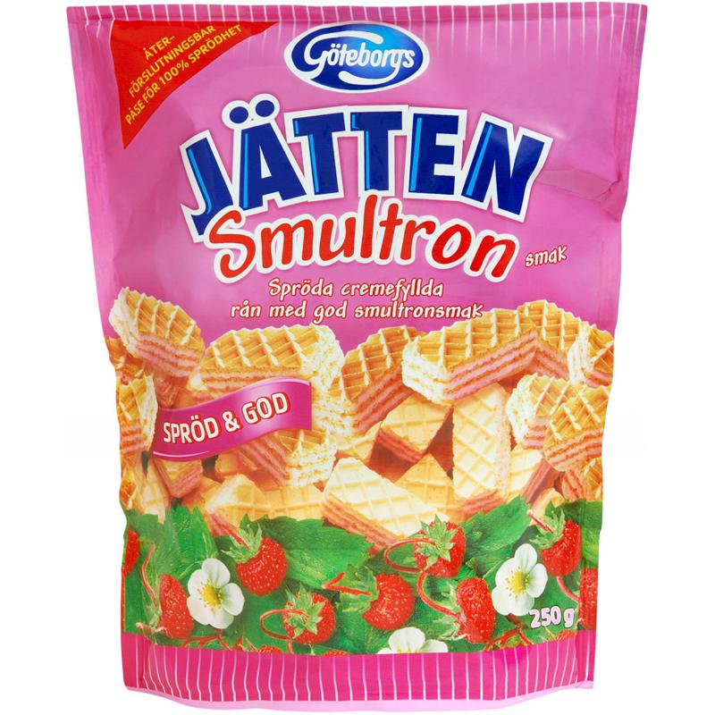 Kex Jätten Smultron 250g - 16% rabatt