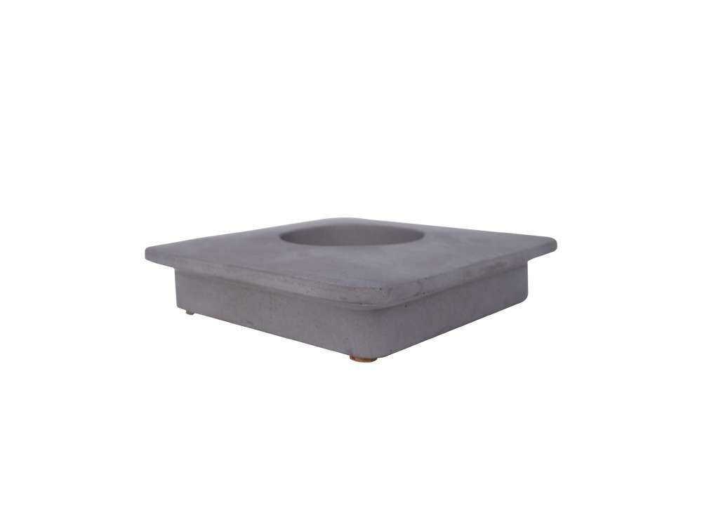 LIKEconcrete - Karin Box Lid With Hole - Grey (93823)