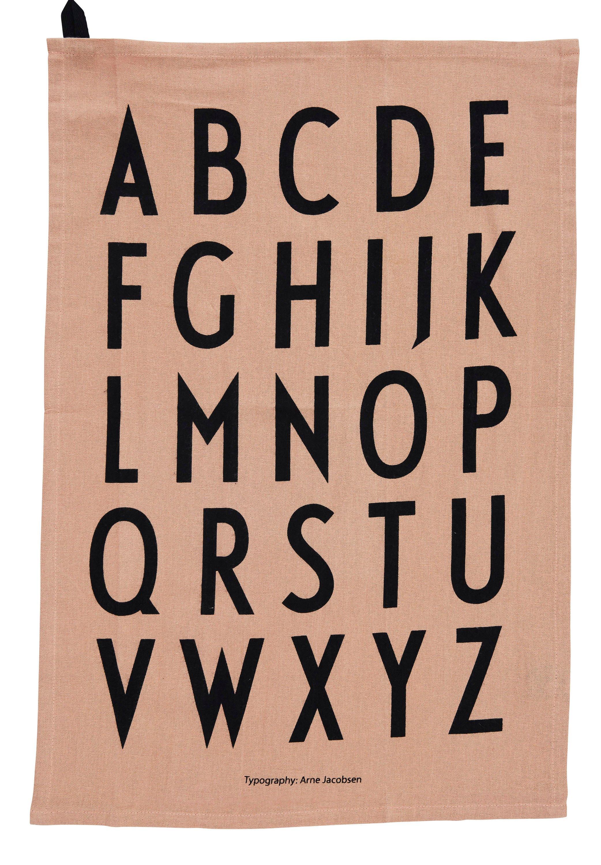 Design Letters - Classic Tea Towel - Nude (10503000NUDE)