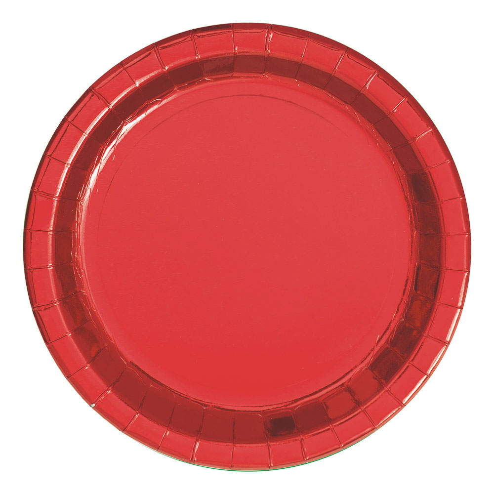 Pappersassietter Röda Metallic - 8-pack