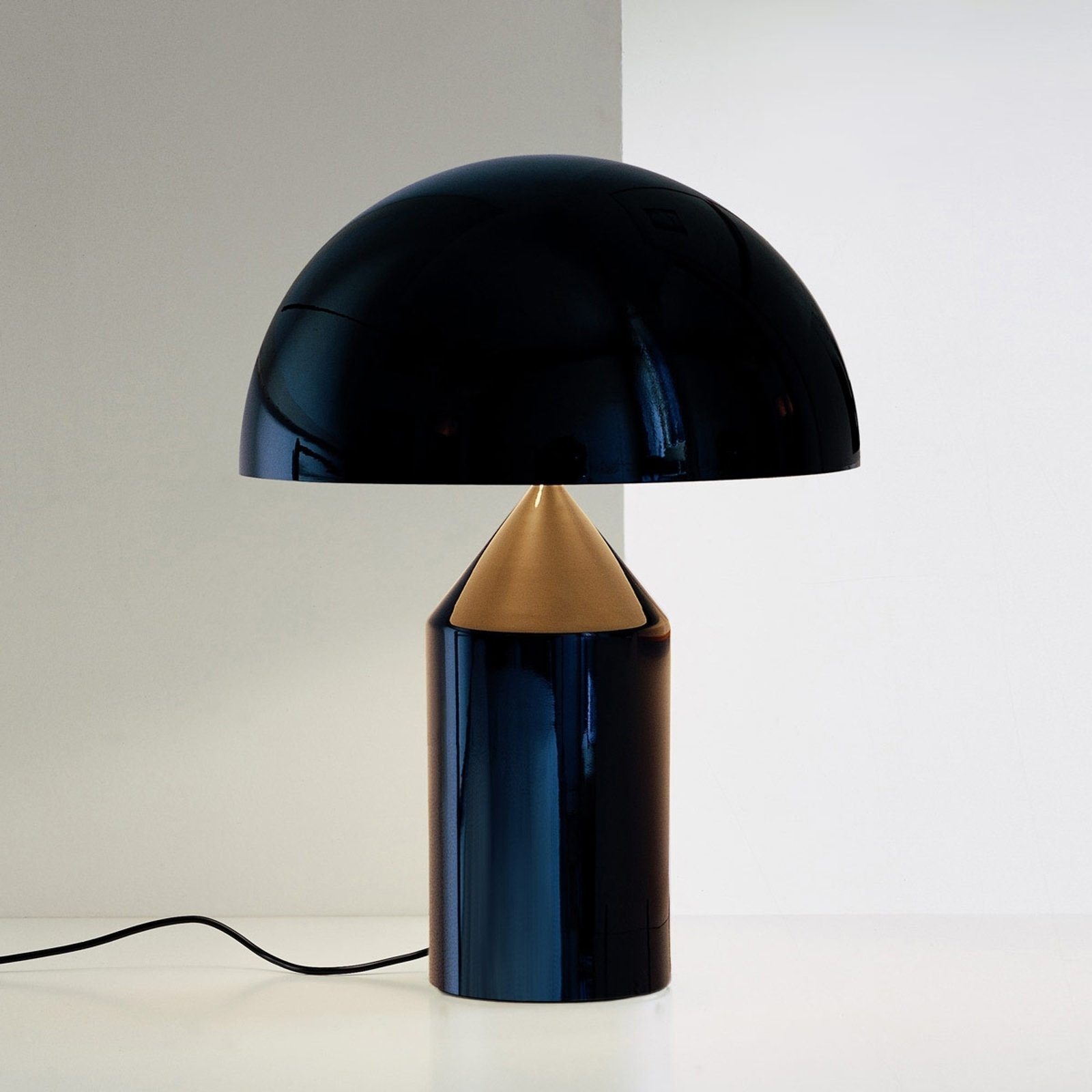 Design-bordlampe Atollo m. dimmer, svart