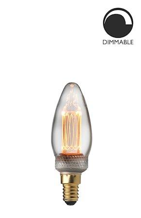 Lyspære E14 Laser LED Filament Krone Klar 2,3W